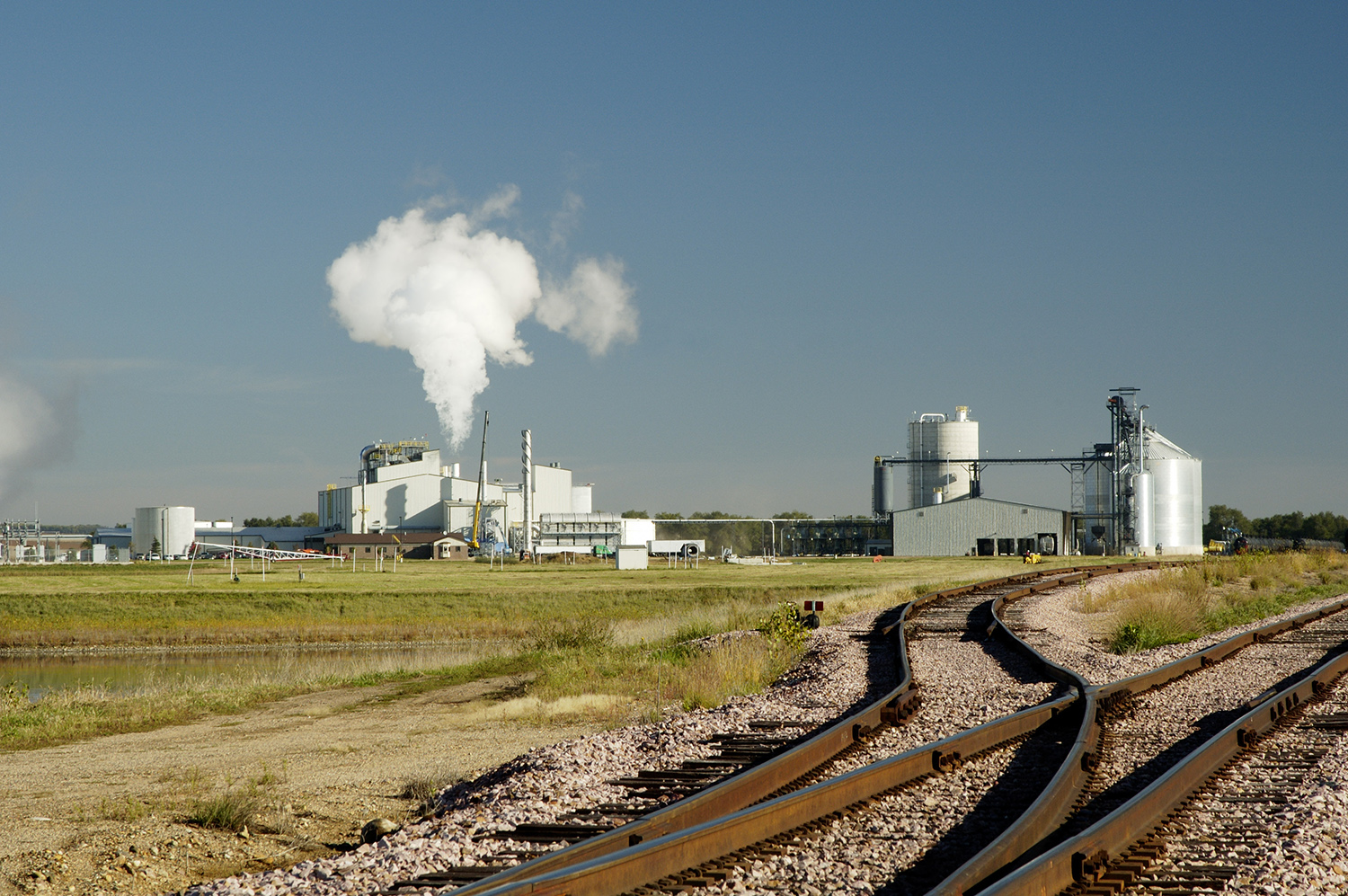 An ethanol production plant in South Dakota.