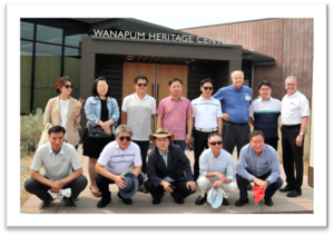 Gunpo Delegation Visiting the Wanapum Heritage Center.