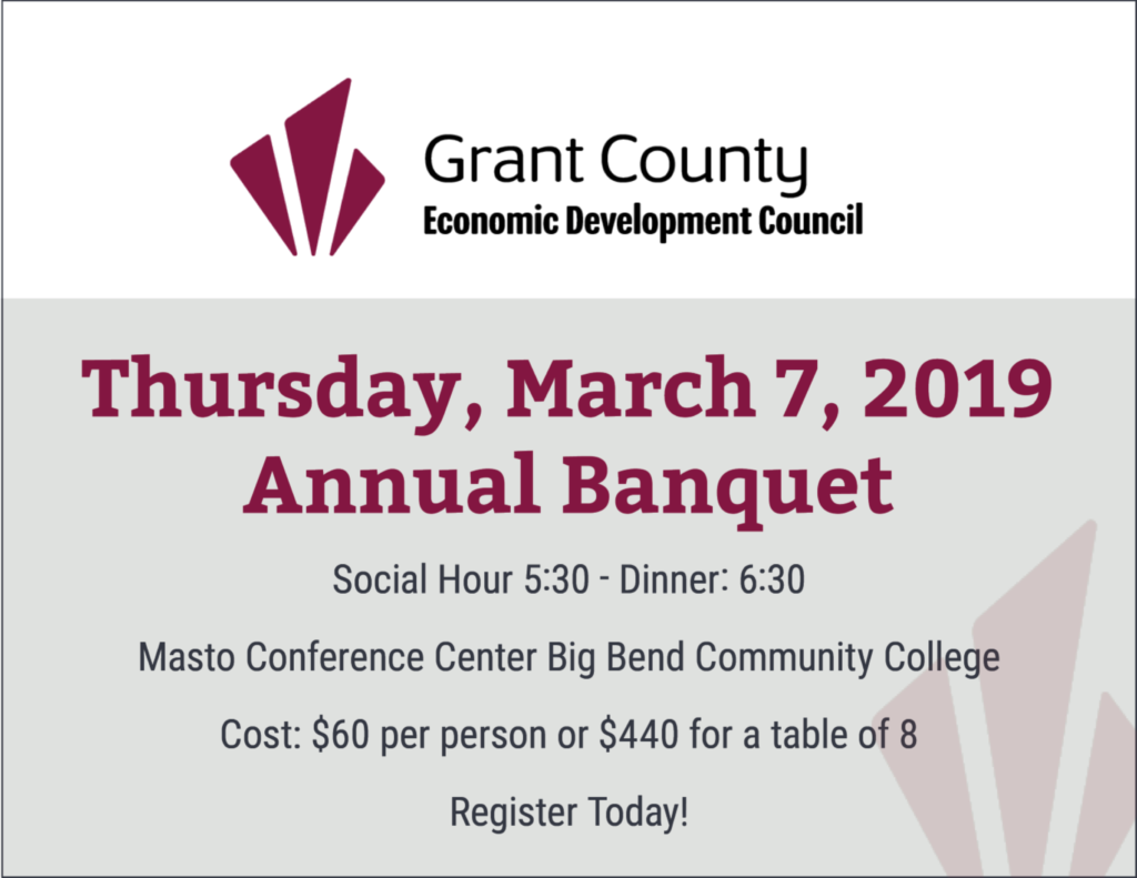 Thursday, March 7, 2019 GCEDC Annual Banquet